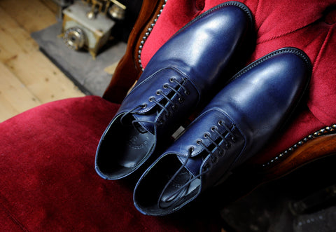 oxford shoes guide - Percy Stride Blue Oxfords