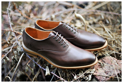 Oxford Shoes Guide - Percy Stride Mocha Oxfords