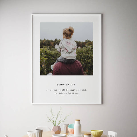 Unique fathers day gifts -print
