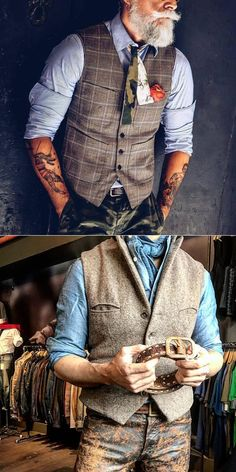 Date night men's fashion for over 50 waistcoat