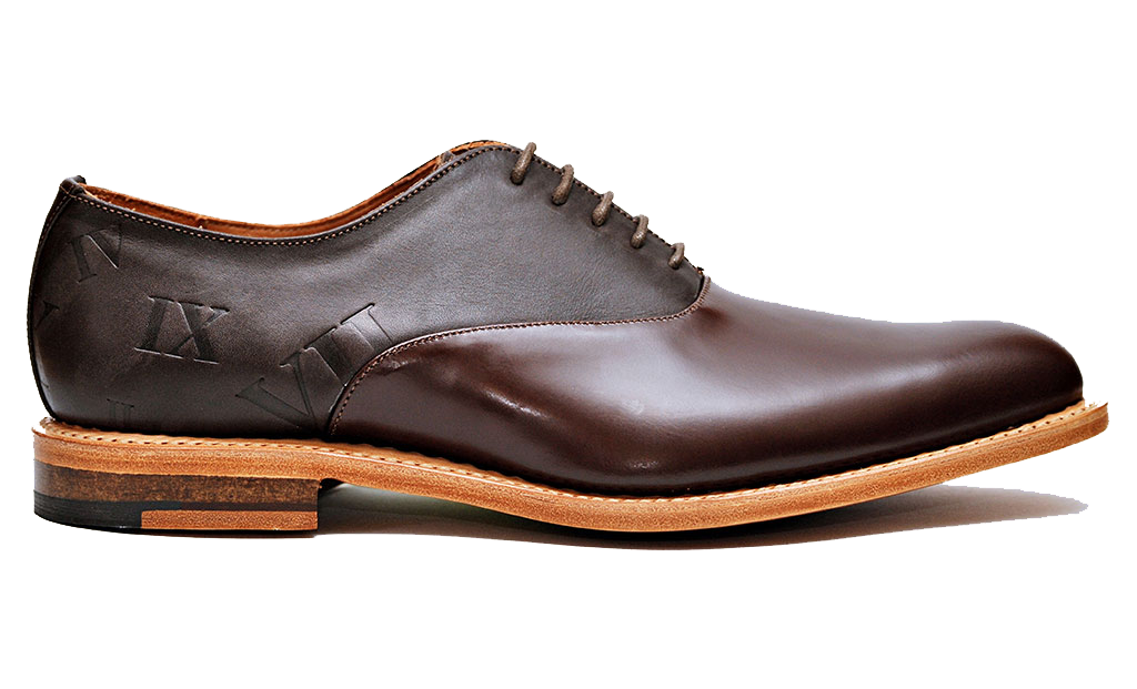 Chestnut Brown Two-Tone Oxfords