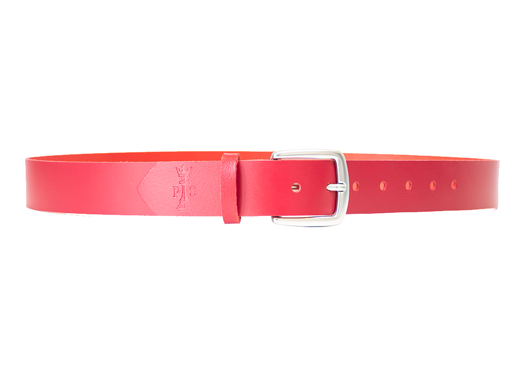 Red Leather 30mm Belt