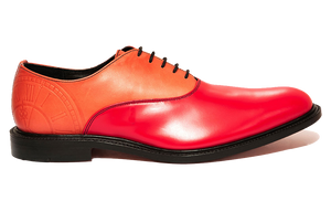 Burgundy Red Two-Tone Oxfords