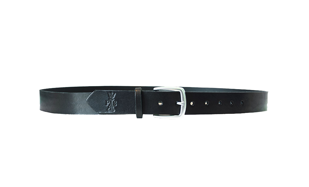 Black Leather 30mm Belt