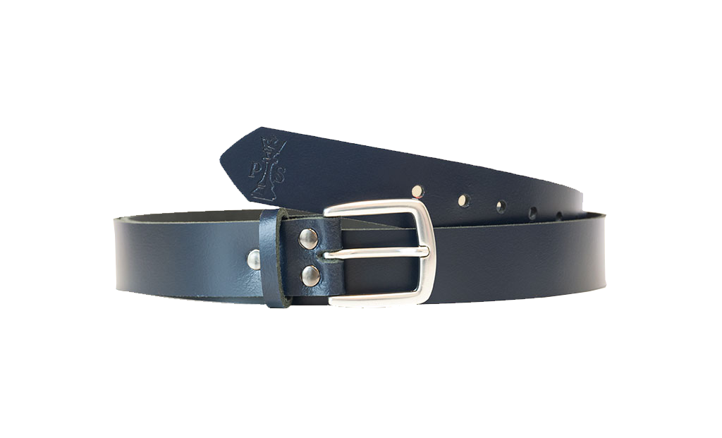 Blue Leather 30mm Belt