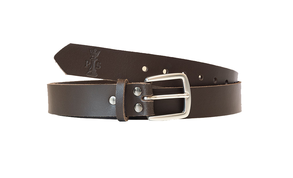 Brown Leather 30mm Belt