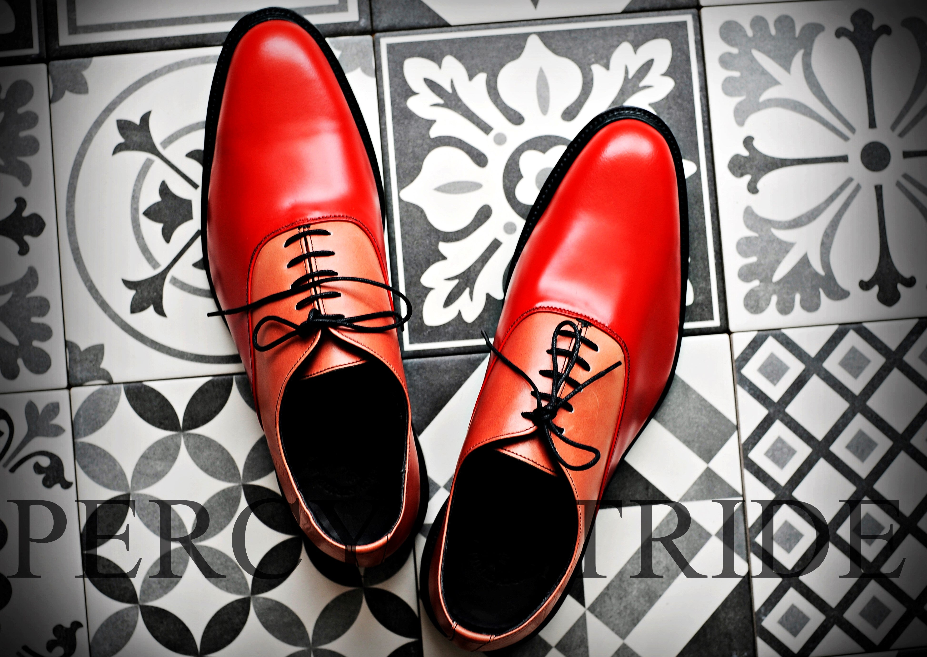 Men's Red smart Oxford shoes