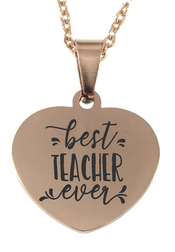 Teacher Gifts - Engraved Jewellery