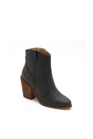 MACKIN J Women's Ankle Boots Pointed Toe Chunky Heel Booties Mid Heel Zip Boots Henry-1