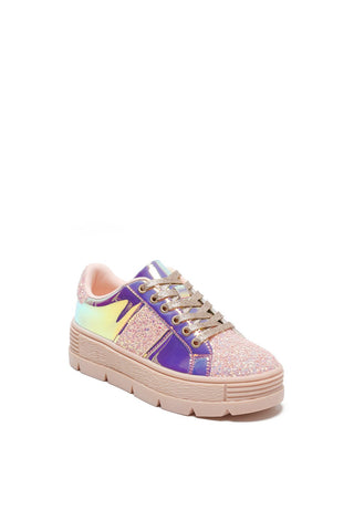 Mackin J 334-1 Women Hologram with a Combination of Shimmer Platform Sneaker