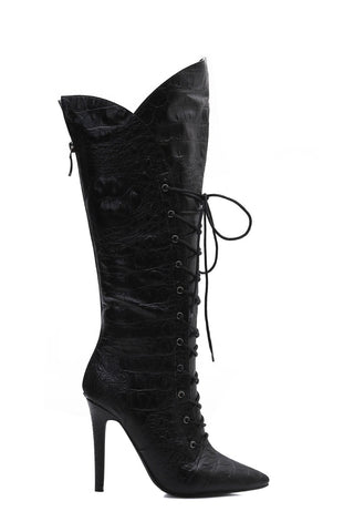 MACKIN J 347-12 Women's Knee High Boots Lace-Up High Heel Stiletto Boots