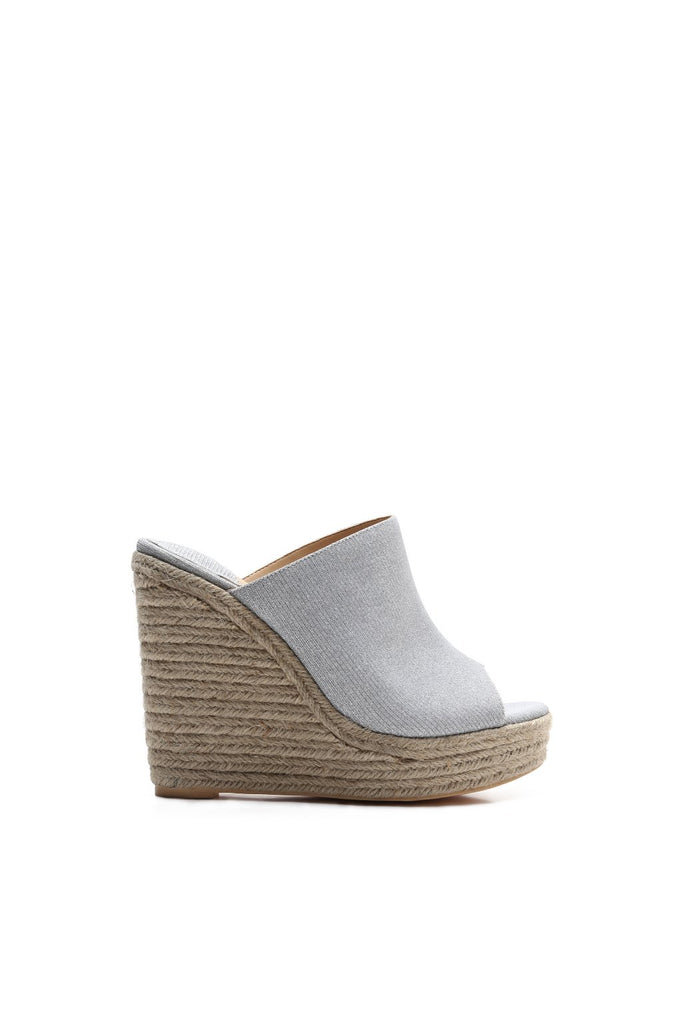 MACKIN J 380-2 Slip-on Wedge Sandal Peep Toe Espadrille Platform Wedges
