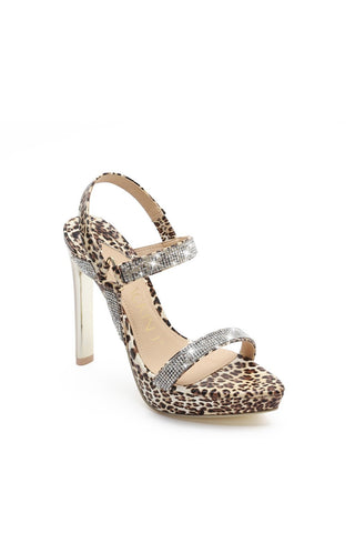 MACKIN J 571-3 Women's Open Toe High Heel Sandals With Rhinestone Platform Strappy Buckle Shoes