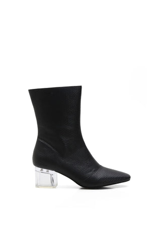 Clear Block Heel Ankle Booties - mackinj2