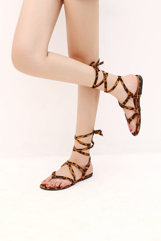 MACKIN J G370-4 Lace Up Gladiator Sandals Thong Dress Summer Flat Sandals for Women