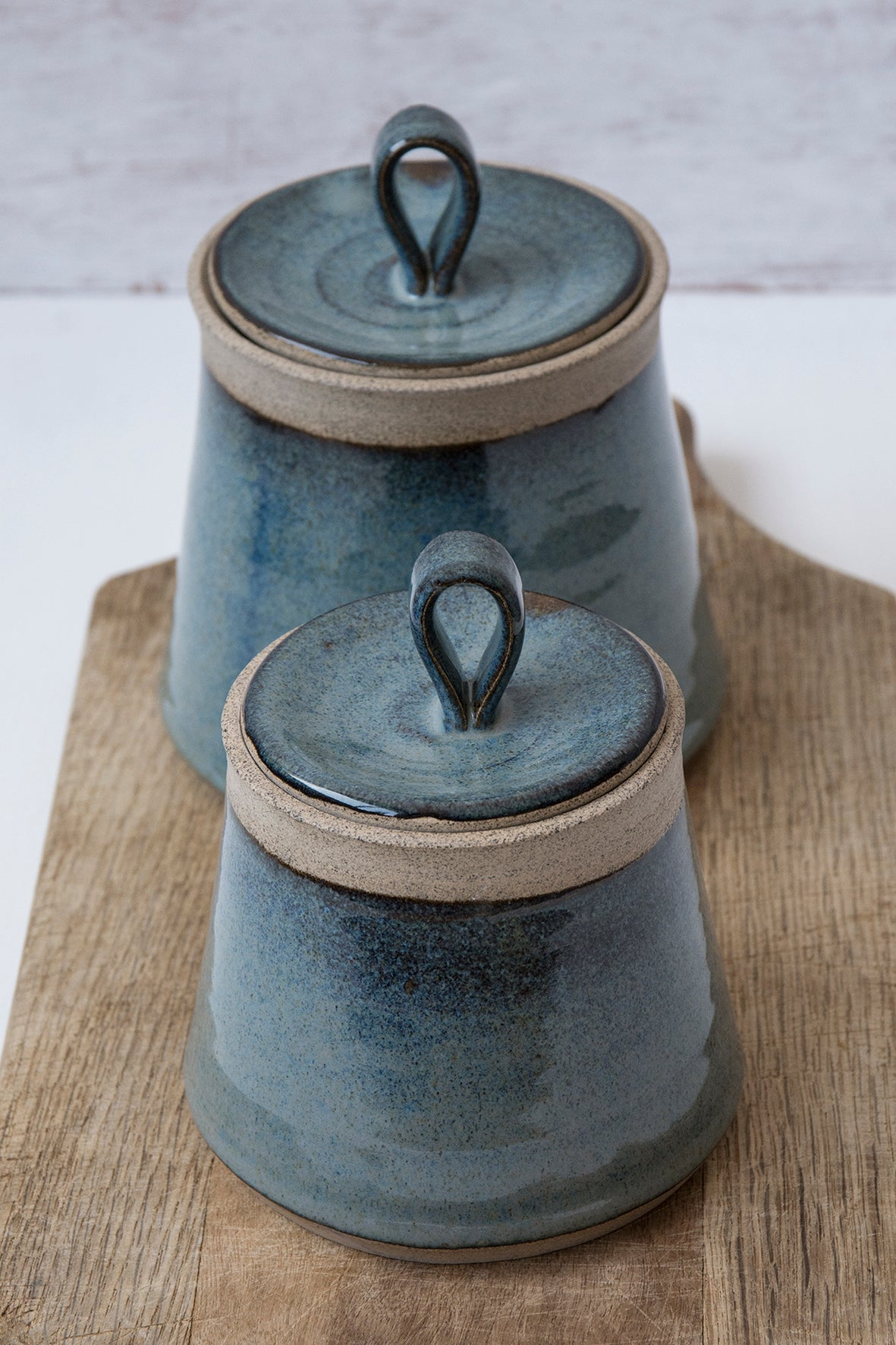 Set of 2 Ceramic Canisters