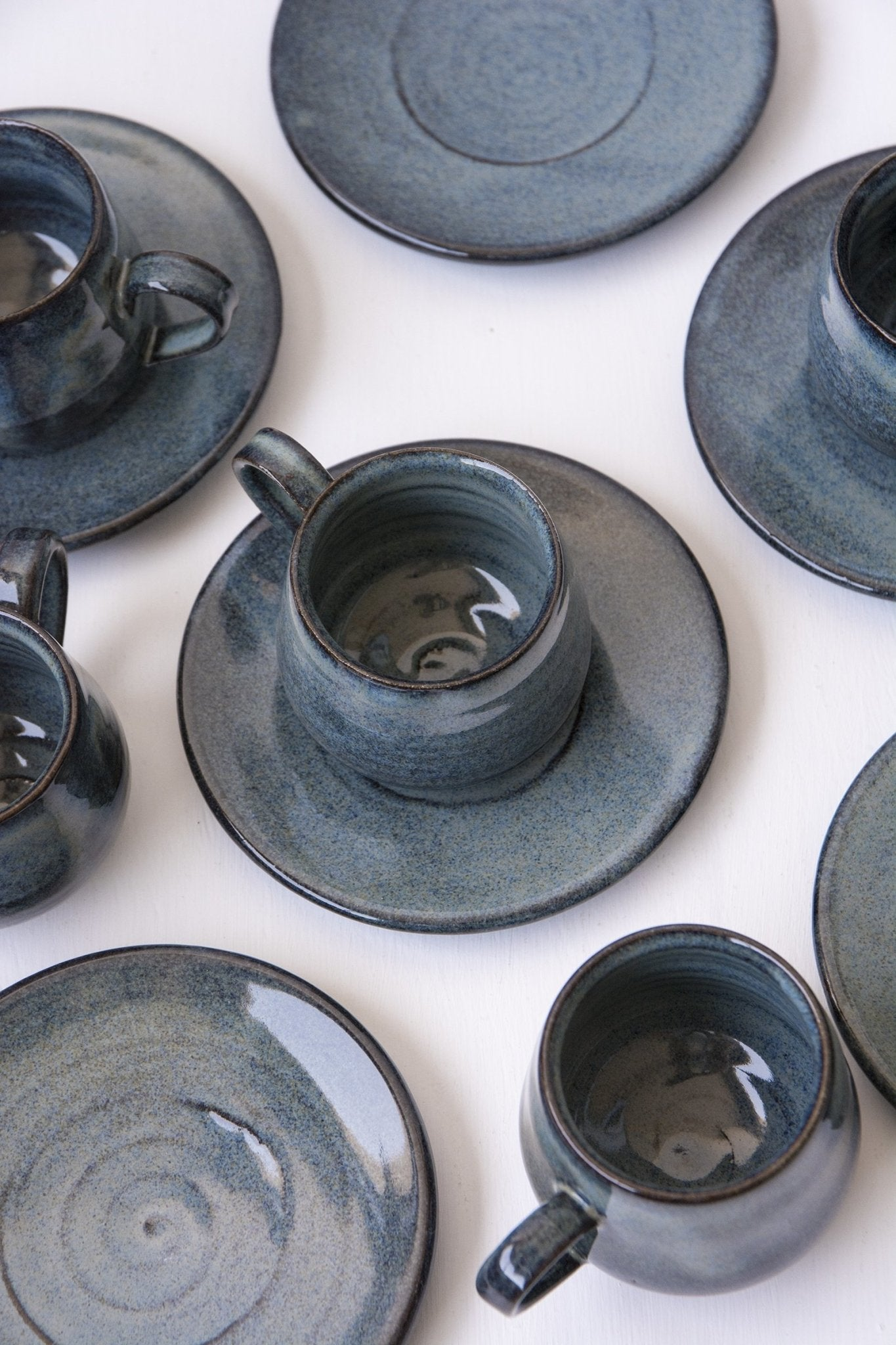 Blue Ceramic Espresso Cups - Mad About Pottery- cup