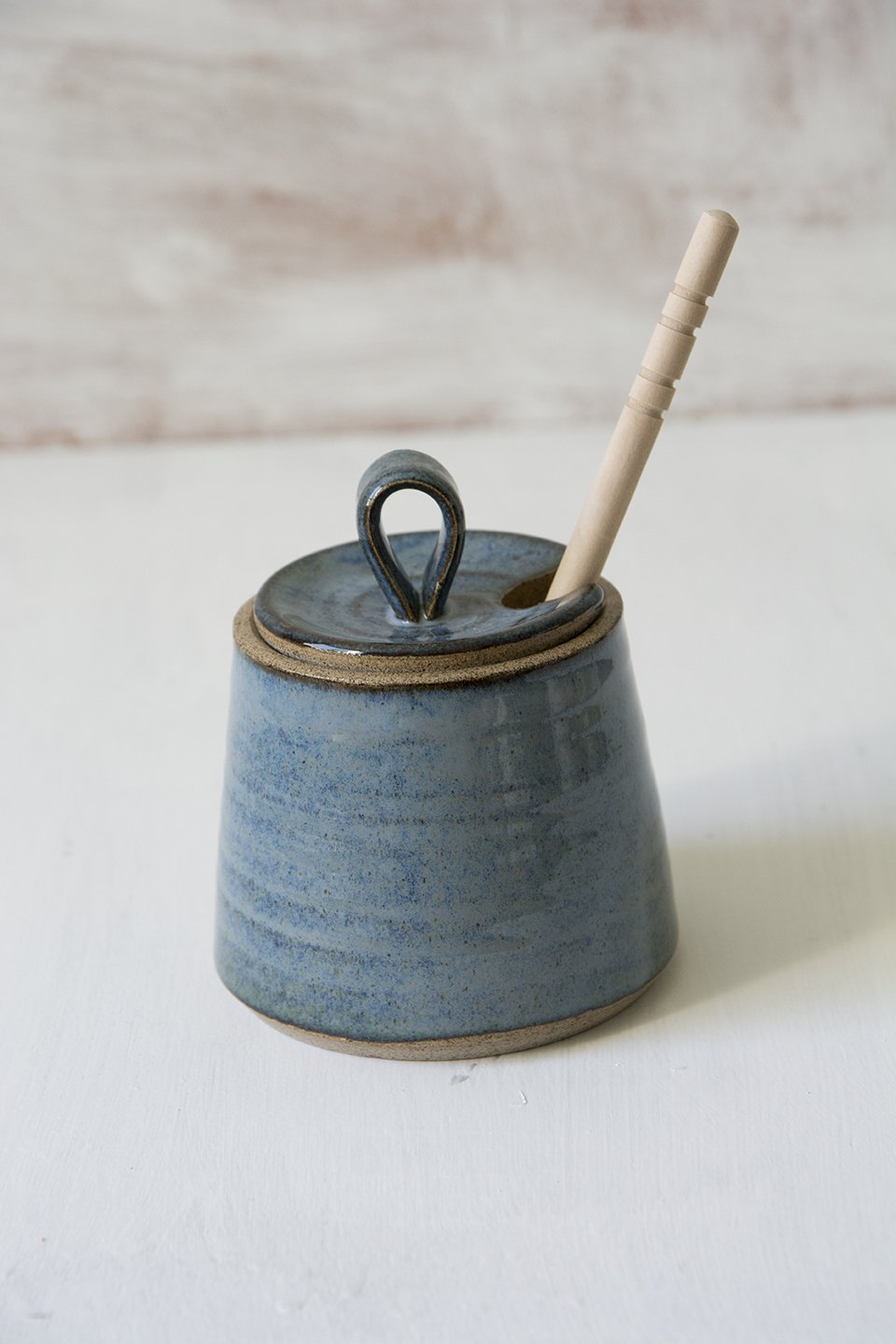 Blue Ceramic Honey Dish for Rosh Hashanah - Mad About Pottery - Honey dish