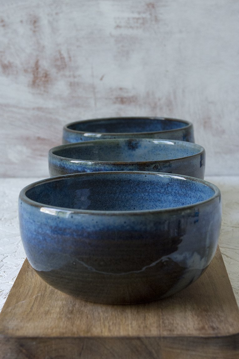 Blue Ceramic Soup Bowl - Mad About Pottery - Bowl