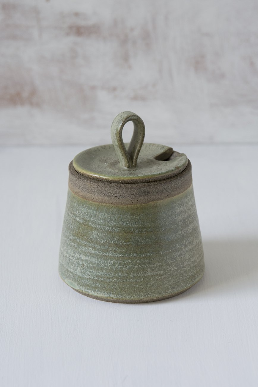Green Pottery Sugar Bowl - Mad About Pottery - Sugar Bowl