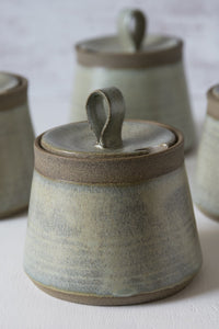 Green Pottery Sugar Bowl - Mad About Pottery- Sugar Bowl