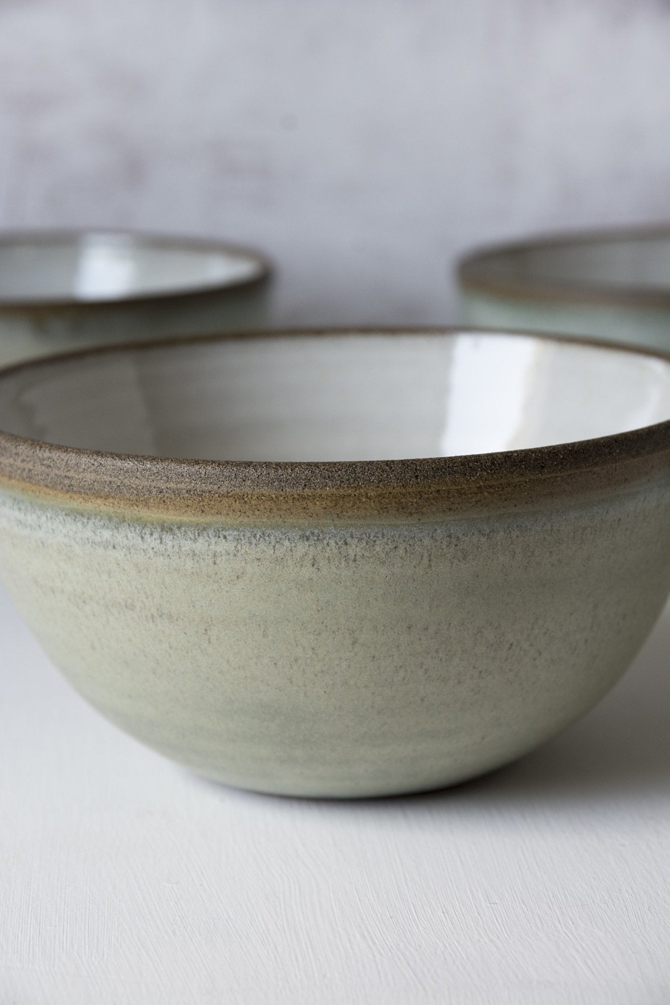 Green Sage Bowl - Mad About Pottery- Bowl