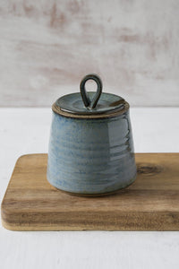 Handmade Blue Ceramic Sugar Bowl - Mad About Pottery - Sugar Bowl
