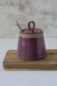 Handmade Purple Pottery Sugar Bowl - Mad About Pottery - Sugar Bowl