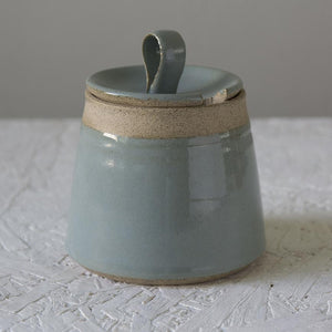 Light Blue Pottery Honeypot - Mad About Pottery - Honey dish