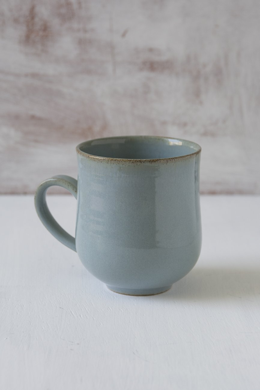 Light Blue Pottery Mug, 10 fl oz - Mad About Pottery - Mugs and Cups