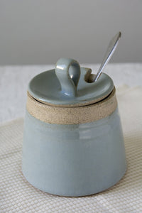 Light Blue Pottery Sugar Bowl - Mad About Pottery - Sugar Bowl