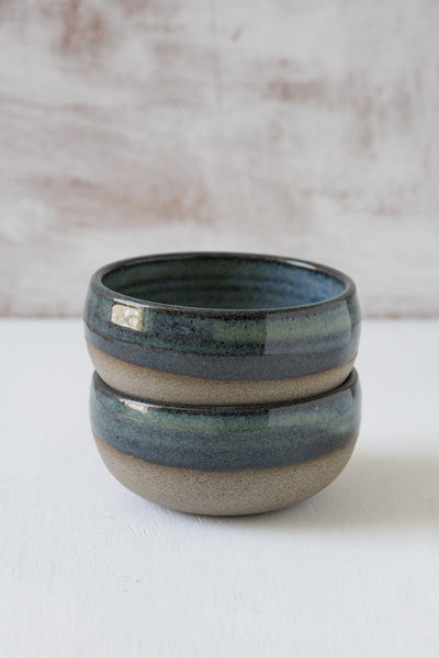 Mini Blue-Green Pottery Serving Bowls - Mad About Pottery - Bowl