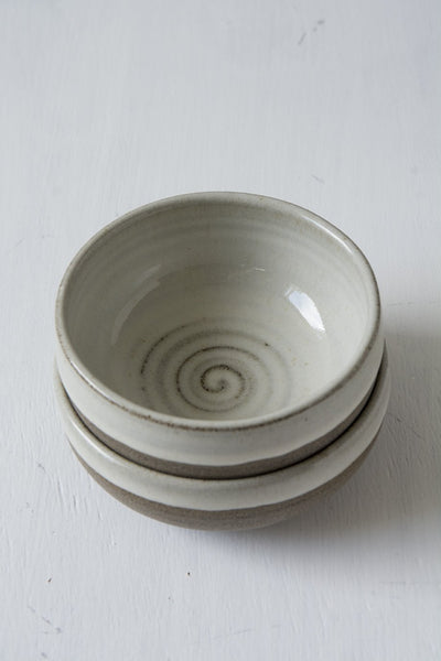 Mini White Farmhouse Pottery Serving Bowls - Mad About Pottery - Bowl