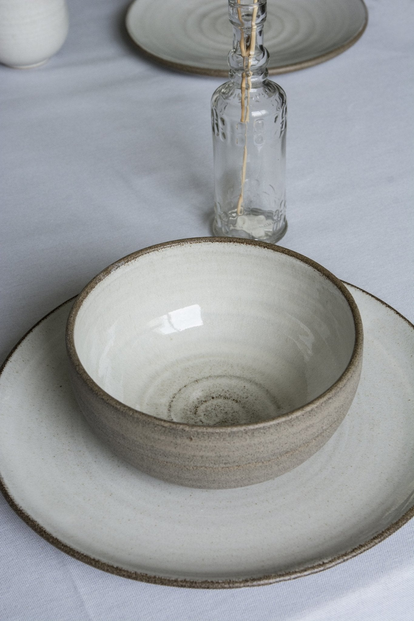 Pottery Dinnerware, Main Course and a Soup Bowl - Mad About Pottery- plates