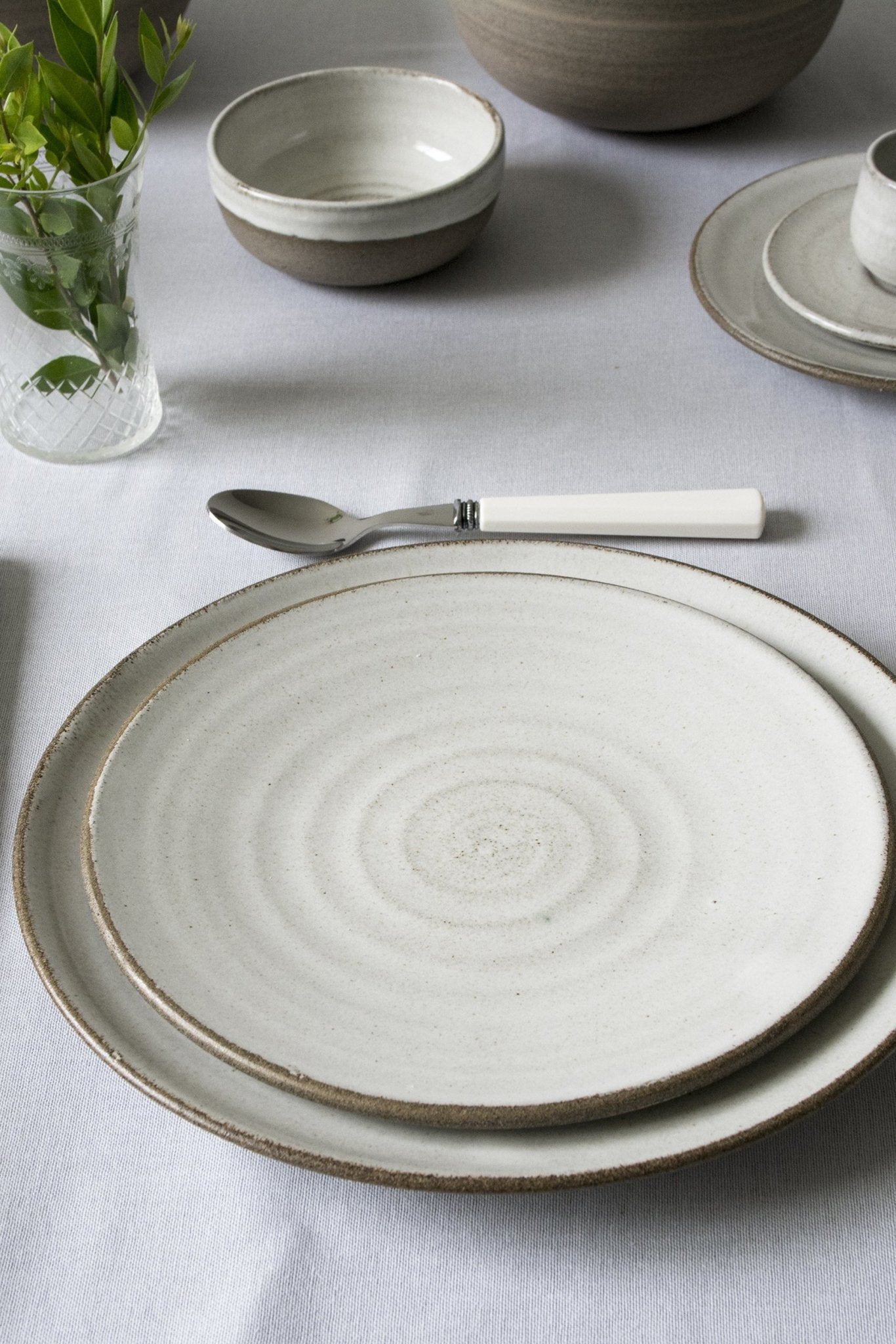 Pottery Dinnerware, Main Course and Salad Plate, 2 Plates - Mad About Pottery- plates
