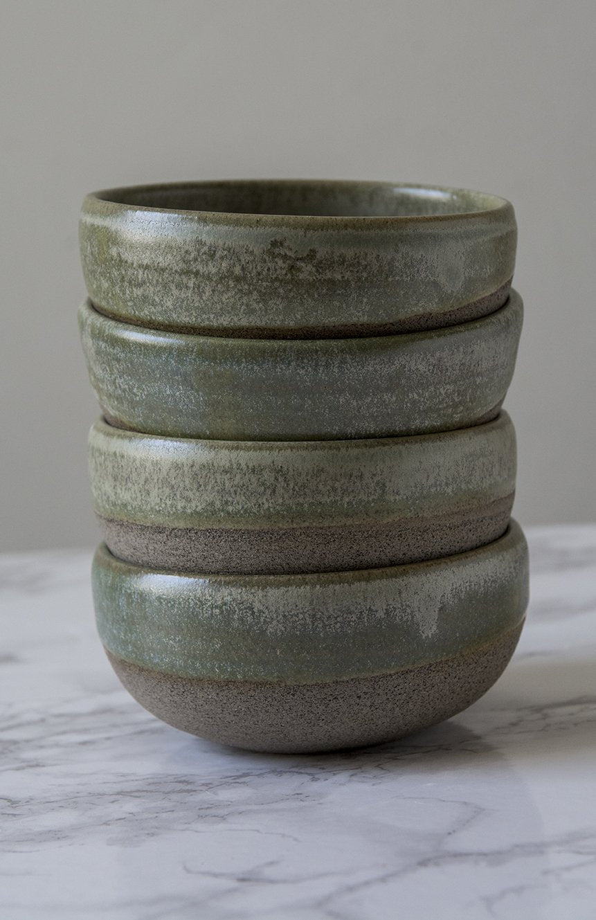 Pottery Dipping Bowls, Sage Green Glaze - Mad About Pottery - Bowl