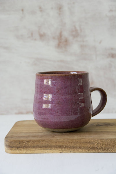 Pottery Purple Rustic Coffee Mug - Mad About Pottery - Mug
