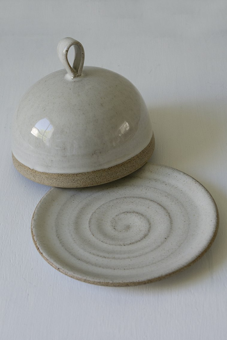 Pottery Round Butter Dish - Mad About Pottery - Buttery Dish