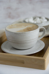 Pottery White Tea Cup and Saucer - Mad About Pottery - Mug