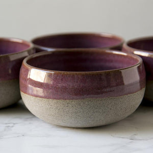 Purple Ceramic Condiment Bowls - Mad About Pottery - Bowl