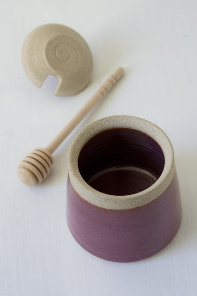 Purple Ceramic Honey Server - Mad About Pottery - Honey dish