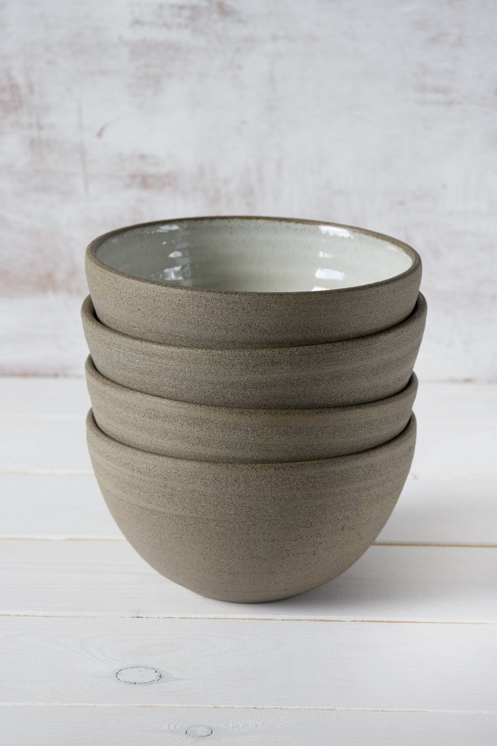 Rustic Soup Bowls, Set of 4 - Mad About Pottery- Bowl