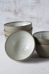 Rustic Soup Bowls, Set of 6 - Mad About Pottery- Bowl