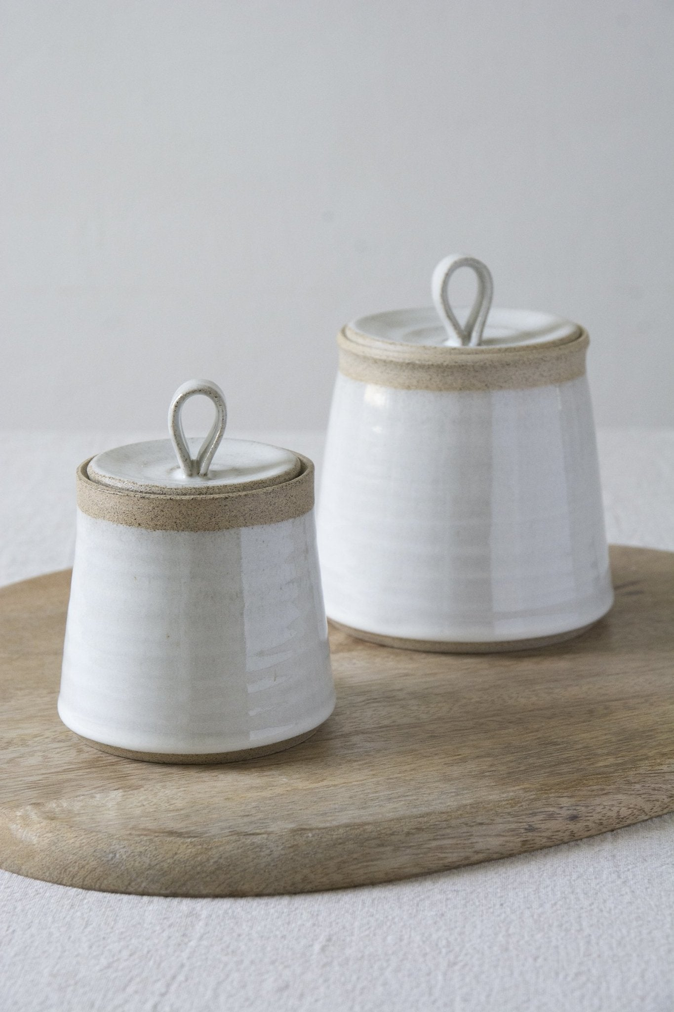 Set of 2 Ceramic Canisters - Mad About Pottery- canister