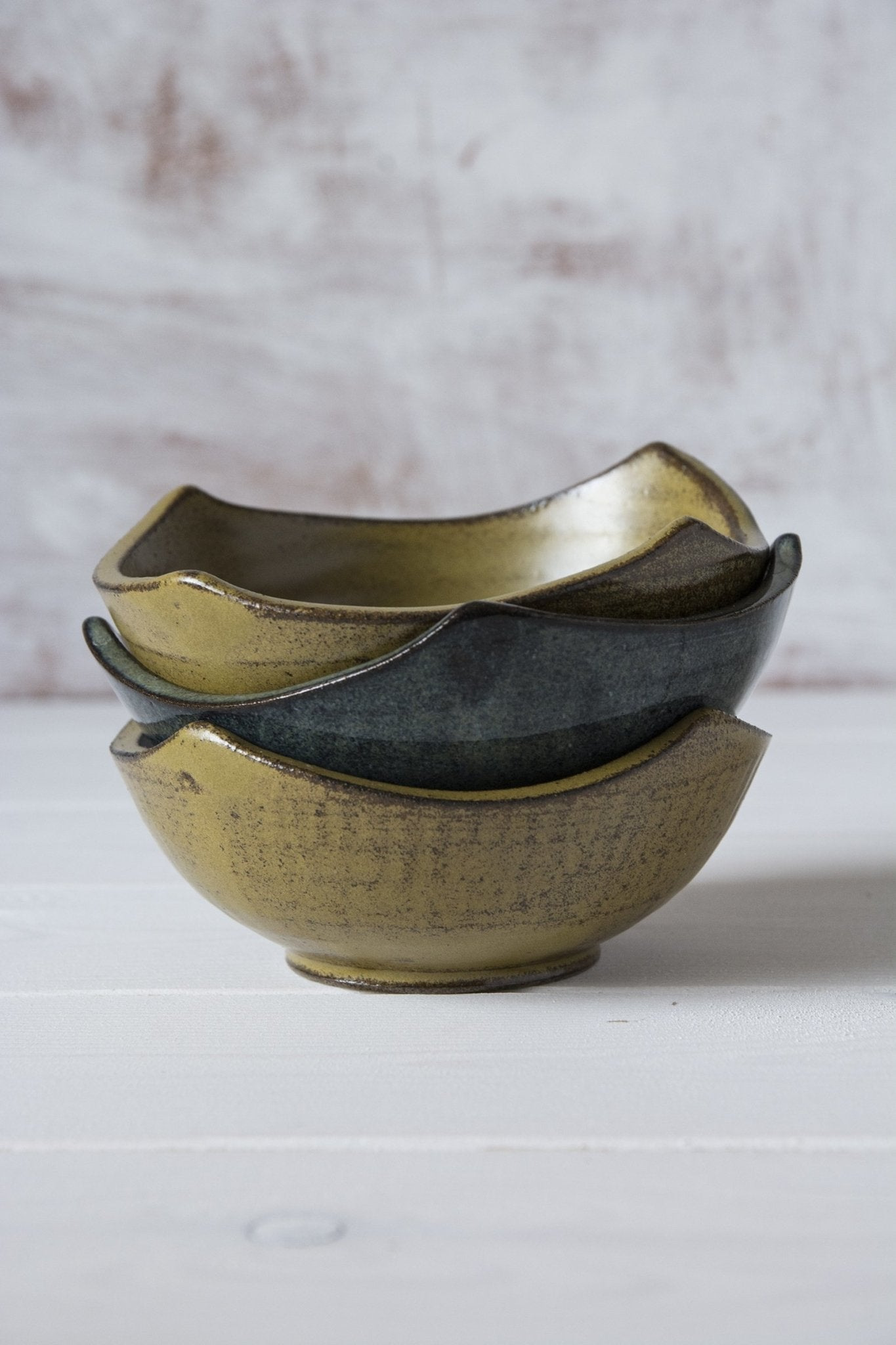 Set of 3 Shaped Versatile Mini Bowls - Mad About Pottery- Bowl