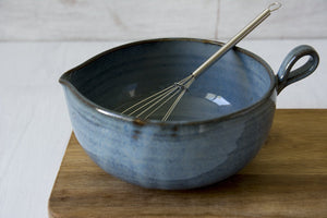 Small Blue Pottery Mixing Bowl - Mad About Pottery - Bowl