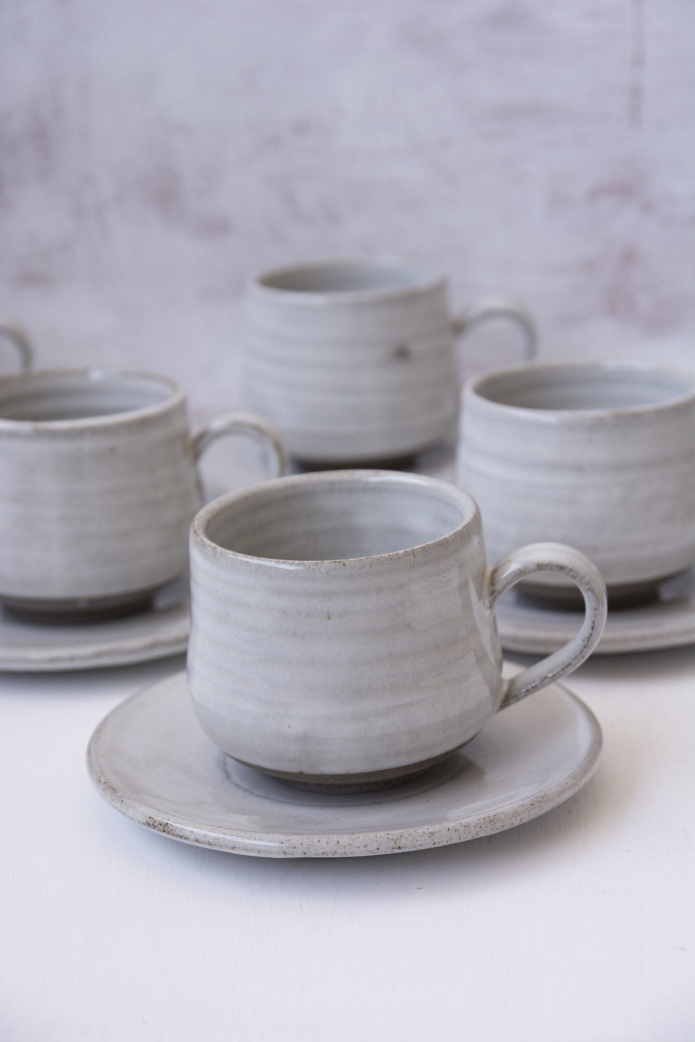 White 5 fl. oz Cappuccino Cup - Mad About Pottery- Mug