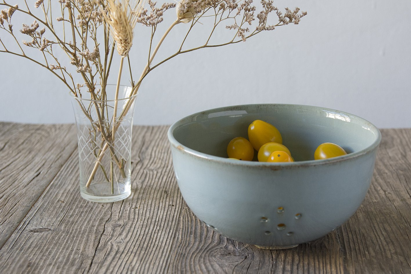 White Ceramic Berry Colander - Mad About Pottery- colander