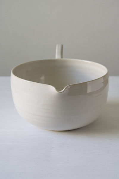 White Ceramic Mixing Bowl - Mad About Pottery - Bowl