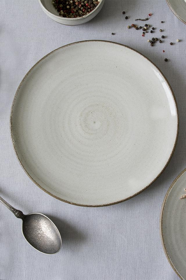 White Large Pottery Dinner Plate - Mad About Pottery - plates